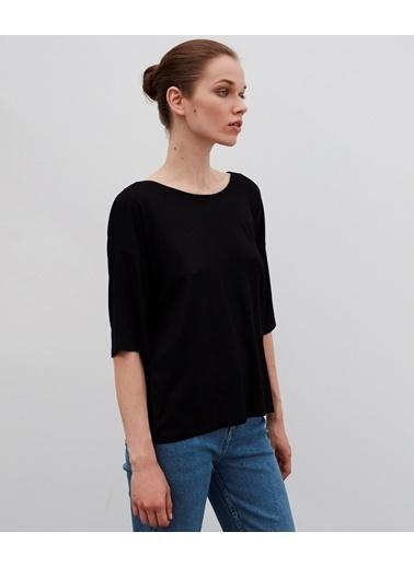 Ipekyol Kadın  Tişört IW6200070041 Siyah